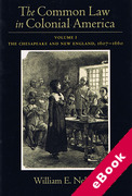 Cover of The Common Law in Colonial America Volume I: The Chesapeake and New England 1607-1660 (eBook)