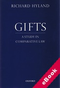 Cover of Gifts: A Study in Comparative Law (eBook)