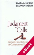 Cover of Judgment Calls: Principle and Politics in Constitutional Law (eBook)