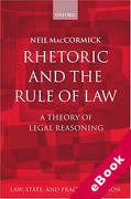Cover of Rhetoric and The Rule of Law: A Theory of Legal Reasoning (eBook)