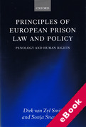 Cover of Principles of European Prison Law and Policy (eBook)