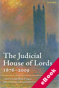 Cover of The Judicial House of Lords: 1870-2009 (eBook)