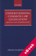 Cover of Understanding Common Law Legislation (eBook)
