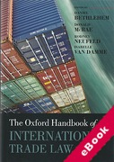 Cover of The Oxford Handbook of International Trade Law (eBook)