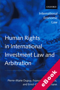 Cover of Human Rights in International Investment Law and Arbitration (eBook)
