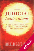 Cover of Judicial Deliberations: A Comparative Analysis of Transparency and Legitimacy (eBook)