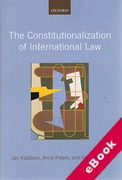 Cover of The Constitutionalization of International Law (eBook)