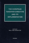 Cover of The European Takeover Directive and its Implementation