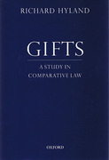Cover of Gifts: A Study in Comparative Law