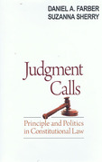 Cover of Judgment Calls: Principle and Politics in Constitutional Law