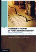 Cover of The Effect of Treaties on Foreign Direct Investment: Bilateral Investment Treaties, Double Taxation Treaties and Investment Flows