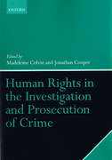 Cover of Human Rights in the Investigation and Prosecution of Crime