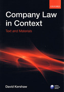 Cover of Company Law in Context: Text and Materials