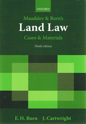 Cover of Maudsley & Burn's Land Law: Cases and Materials