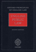 Cover of Oxford Principles of English Law: English Public Law