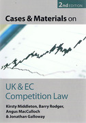 Cover of Cases and Materials on UK and EC Competition Law