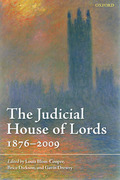 Cover of The Judicial House of Lords: 1870-2009