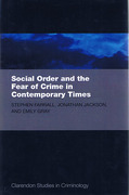 Cover of Social Order and the Fear of Crime in Contemporary Times
