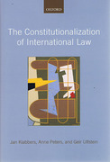 Cover of The Constitutionalization of International Law