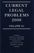 Cover of Current Legal Problems 2008: Volume 61