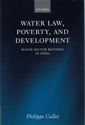 Cover of Water Law, Poverty and Development: Water Sector Reforms in India