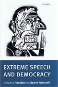 Cover of Extreme Speech and Democracy