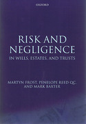 Cover of Risk and Negligence in Wills, Estates and Trusts