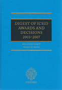 Cover of Digest of ICSID Awards and Decisions: 2003-2007