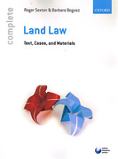 Cover of Complete Land Law: Text, Cases and Materials