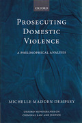 Cover of Prosecuting Domestic Violence: A Philosophical Analysis