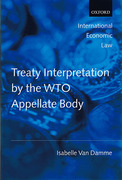 Cover of Treaty Interpretation by the WTO Appellate Body