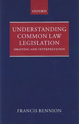 Cover of Understanding Common Law Legislation