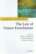 Cover of Philosophical Foundations of the Law of Unjust Enrichment