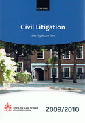 Cover of Bar Manual: Civil Litigation 2009/2010