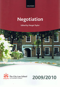 Cover of Bar Manual: Negotiation 2009/2010
