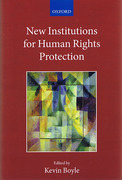 Cover of New Institutions for Human Rights Protection