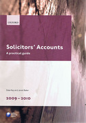 Cover of LPC: Solicitors' Accounts: A Practical Guide 2009 - 2010
