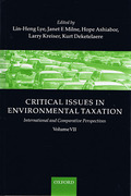 Cover of Critical Issues in Environmental Taxation Volume VII