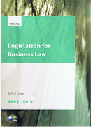 Cover of LPC: Legislation for Business Law 2009/2010