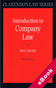 Cover of An Introduction to Company Law (eBook)