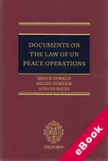 Cover of Documents on the Law of UN Peace Operations (eBook)