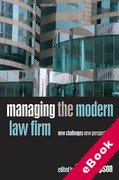 Cover of Managing the Modern Law Firm: New Challenges, New Perspectives (eBook)