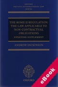 Cover of The Rome II Regulation: The Law Applicable to Non-Contractual Obligations: Updating Supplement (eBook)