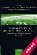Cover of Critical Issues in Environmental Taxation Volume VIII (eBook)