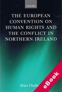 Cover of European Convention on Human Rights and the Conflict in Northern Ireland (eBook)