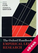 Cover of The Oxford Handbook of Empirical Legal Research (eBook)