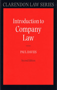Cover of An Introduction to Company Law