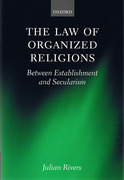 Cover of Law of Organized Religions : Between Establishment and Secularism