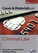 Cover of Cases and Materials on Criminal Law