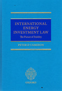 Cover of International Energy Investment Law: The Pursuit of Stability
